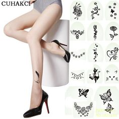 Spring 2017 Hot New Fashion Sexy Tattoo Tights Stockings Transparent Ultra-thin Ladies Girl and Women Pantyhose