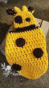 Ravelry: Chunky Giraffe Cocoon & Hat pattern by Rachael Whitton Stegmoyer