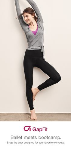 Raise the barre on your next workout with GapFit. Shop this season's newest Barre arrivals like the barre wrap top made with breathable, high-performance jersey knit or the Blackout Technology Barre gFast high rise leggings that help you bend and stretch with complete confidence.