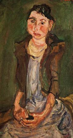 Farm Girl by Chaim Soutine (1893-1943), Russian (Belarusian Jew), lived in Paris - Soutine developed an individual style more concerned with shape, color, and texture over representation, which served as a bridge between more traditional approaches and the developing form of Abstract Expressionism.(source: breathesart via urge to create)