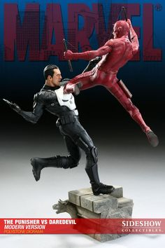 Punisher Vs Daredevil Statue Diorama Modern Version Another one for those har - Comic - Daredevil - Popcultcha