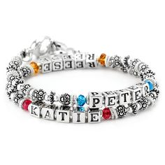Peter Katie Double Wrap Style Mothers Bracelet