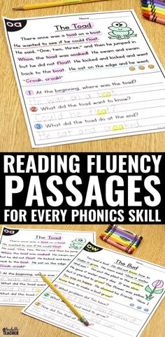 FREE fluency reading passages. Give kids the chance to practice phonics in the context of reading. Practice phonics, reading fluency, and reading comprehension all with these free printable reading passages. TPT printables  kindergarten, first grade, second grade reading passages | struggling readers | reading activities