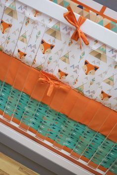 I am loving this fox crib bedding for your fox themed nursery! Perfect colors palette of orange, teal and navy. Woodland Crib Bedding, Woodland Nursery Boy, Crib Bedding Boy, Teal Bedding, Crib Sheets, Bedding Sets, Fox Themed Nursery, Fox Nursery, Nursery Themes