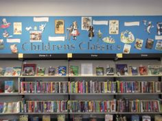 Children's classics display at Walker Library