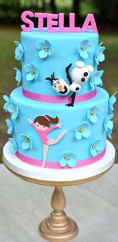 Gymnastics with Olaf Cake