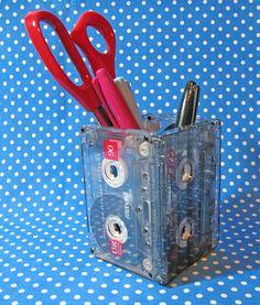 Cassette Tape Desk Caddy