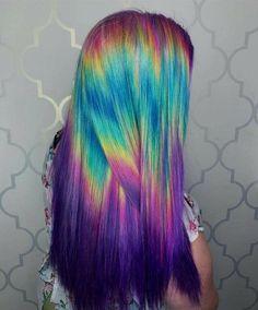 Awesome hair color hair health, colors and styles, 2019 dyed hair, hair Mink Brazilian Hair, Coloured Hair, Mermaid Hair, Mermaid Makeup, Dream Hair, Cool Hair Color, Cool Hair Dyed, Hair Colour, Hair Art