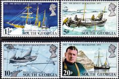 Stamps South Georgia 1975 Captain Cook Set Fine Mint SG 43/5 Scott 41/3 Other Sout Georgian Stamps HERE