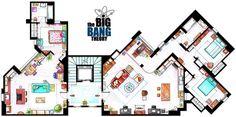 Big Bang Theory Floor Plans.