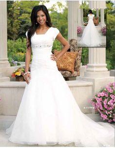 Simply gorgeous! $588 at Margene's_Amaya Modest Wedding Dress :: Margene's Bridal