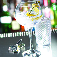 Gin O'Clock? Challenge the traditional Gin Serve with an oversize stem.