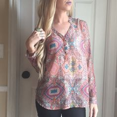 Flowy mauve top Never been worn but to try on. Flowy cute sheer top.  Trades PayPal Mossimo Supply Co Tops