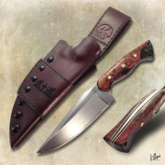 """9"""" RAGNAR (01 of 12) in 80CRV2 with Color dyed stabilize Maple barrel, Mosaic brass pins and brass/paper Micarta liners. Deep laser engraved Bushidō 7 Virtues. With Hybrid Kydex and Leather Sheath.<br /> <br /> Bushidō, (武士道?) literally meaning """"the way of the warrior"""", is a Japanese phrase for the way of the samurai life<br /> <br /> -------------------------------------------------- <br /> About RAGNAR series:<br /> <br /> • Limited Edition. <br /> • only built per order. <br /> • Your…"""