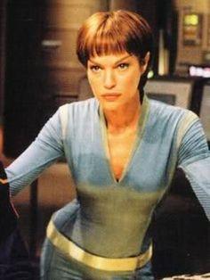 Jolene Blalock as the Vulcan T'Pol Star Trek Actors, Star Trek Characters, Fictional Characters, Star Trek Tv Series, Star Trek Original Series, Star Trek Enterprise, Star Trek Voyager, Akira, Aliens