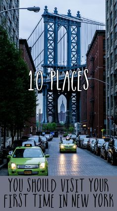 10 places you should visit on your first trip to New York City. It is an amazing and huge city!