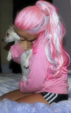 cottoncandy hair. love it!