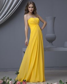 Sweetheart Chiffon A-line Floor Length Bridesmaid Dress