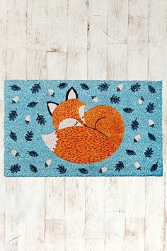 Thought of you when I saw this so you : Rusty the Fox Door Mat urban outfitters in Dublin