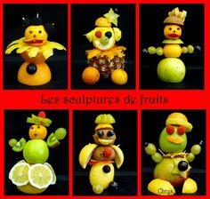 projet sculpture maternelle - Recherche Google L'art Du Fruit, Fruit Art, Paper Plate Crafts, Paper Plates, Kindergarten Sculpture, Amazing Food Art, Sculpture Projects, Snack Box, Toddler Meals