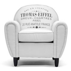 Baxton Studio Thomas-Eiffel Beige Linen Rustic Chair | Overstock.com Shopping - The Best Deals on Chairs