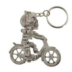 Creative Rubber Bike Skull Purse Bag Keychain
