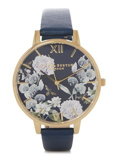 Bee blooms watch - Watches - Marine Blue