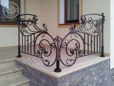 Fine Metal Working Album - All About Balcony Gates And Railings, Iron Stair Railing, Iron Doors, Iron Gates, Balcony Railing Design, Wrought Iron Decor, Grill Design, Iron Steel, Iron Furniture