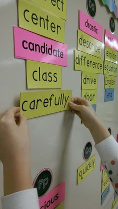 Awesome INTERACTIVE word wall. What a great idea!