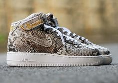 "Nike Air Force 1 Mid ""Python"" Customs by 368Sneakers"