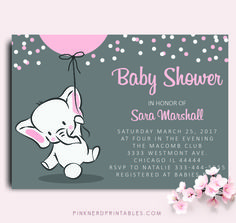 157 best baby shower invitations baby shower cute invitations images elephant baby shower invitation elephant holding balloon baby shower invitation filmwisefo