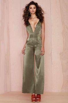 After Party Vintage Aria Satin Jumpsuit - What's New