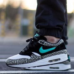 on sale e9eee 8d8e9 Laced Up Laces Black Wax x Nike Air Max 1 ATMOS - Elephant Photo Cred