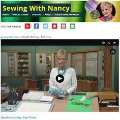Transform Sketchbook Doodles into Works of Fiber Art with Doodle Stitching by Nancy Zieman   Sewing With Nancy