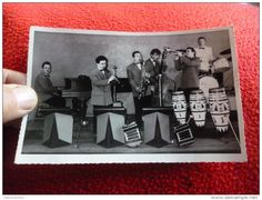 Ancienne Carte Photo  Orchestre : Tango Jazz Band .......