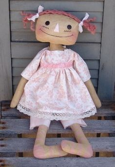 Cottage Chic Raggedy Ann Doll Pattern. $5,50, via Etsy.