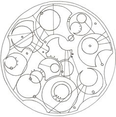 """""""All of time and space. Where do you want to start?"""" in Circular Gallifreyan"""