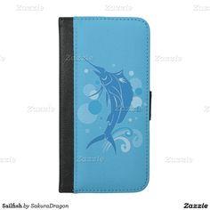 Sailfish iPhone 6/6s Plus Wallet Case #sailfish #fish #fishing #ocean #blue