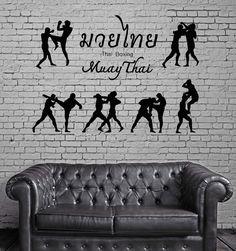 Thai Boxing Vinyl Decal Martial Arts Sport Muay Thai Drink Wall Sticker (ig2317)