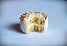 Confetti Cake Polymer Clay Fridge Magnet. $14.50, via Etsy.