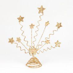 Centre de table d'étoiles pailletées or