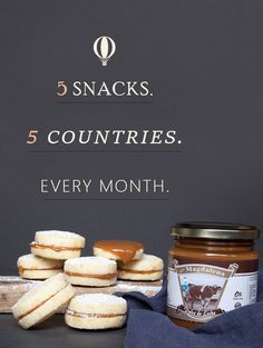 5 snacks. 5 countries. Every month. A box of sweet and savory treats from around the globe delivered to your doorstep. It's gourmet travel at its finest. Take $10 OFF your first order with the code SNACKTHEWORLD. FREE SHIPPING and tax are included!