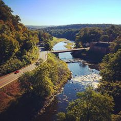 A view of Rosendale, from the Rosendale Trestle