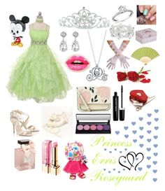 """Masquerade Princess"" by sasukeuchiha2498 ❤ liked on Polyvore featuring Kate Marie, M&Co, Kenneth Jay Lane, Jimmy Choo, Abercrombie & Fitch, Christian Dior, Disney, Accessorize, L'Oréal Paris and Marc Jacobs"
