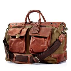 74149b594a75 Will Leather Goods Mens Traveler Duffel Bag Tobacco   Check out this great  product. Mens