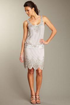 Sue Wong Short Blouson Flapper Dress