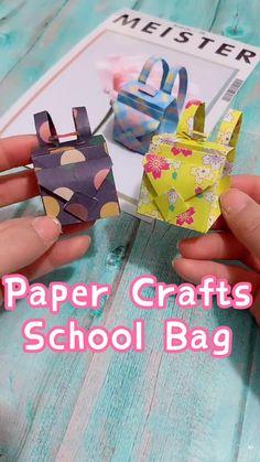 Paper Crafts Origami, Diy Crafts Hacks, Diy Crafts For Gifts, Paper Crafts For Kids, Diy Crafts Videos, Easy Crafts, Paper Bag Crafts, Creative Crafts, Diy Projects