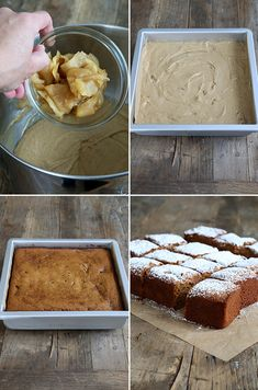 Gluten Free Apple Gingerbread Snack Cake Step by Step