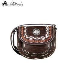 Montana West Handbag Western Concho  Collection Crossbody Coffee #MontanaWest #MessengerCrossBody