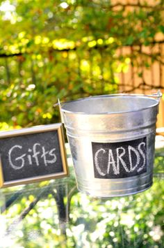 gift card and table